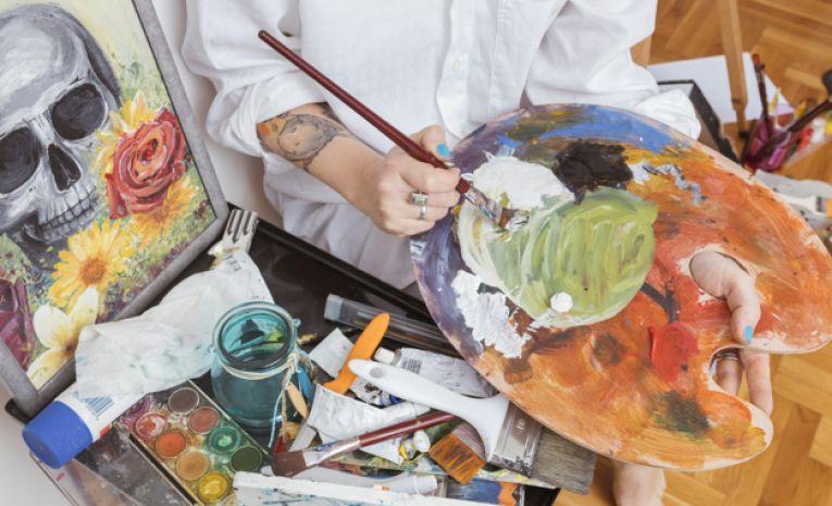 Peinture, gouache, achrylique et huile